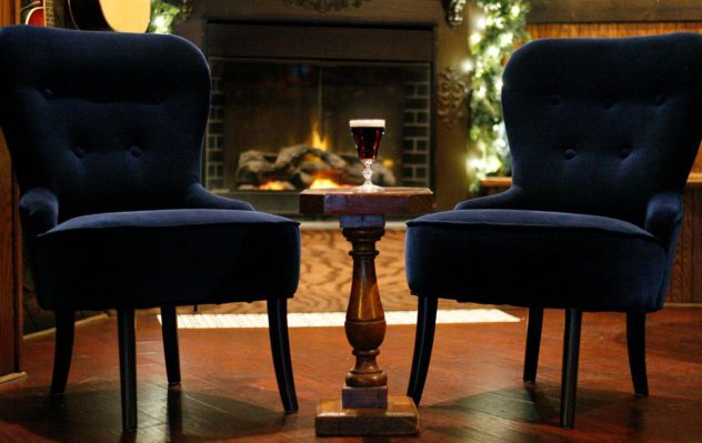 Two chairs at the house of guinness.