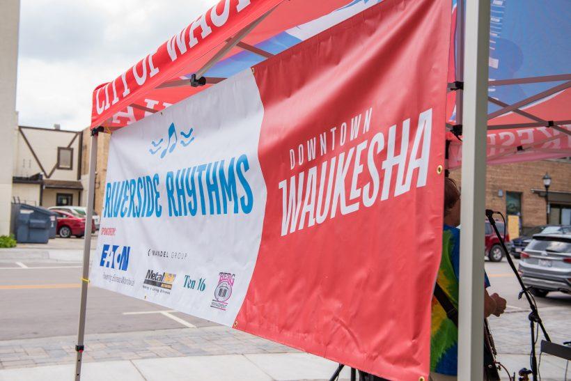The banner at riverside rhythms