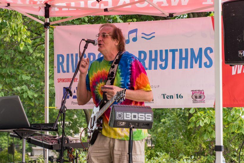A band playing at riverside rhythms