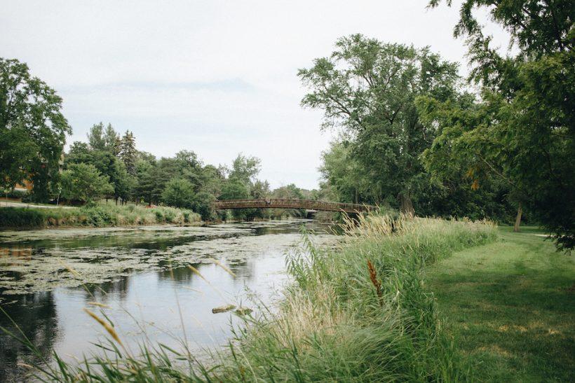 The bridge at bethesda park.